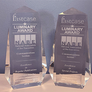WSBA's two Luminaries trophies