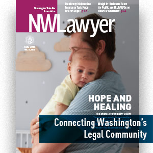 Cover of NWLawyer August 2018