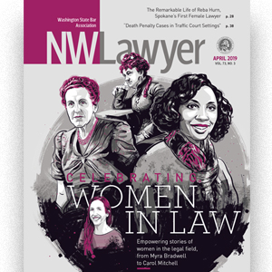 Cover of April 2019 NWLawyer