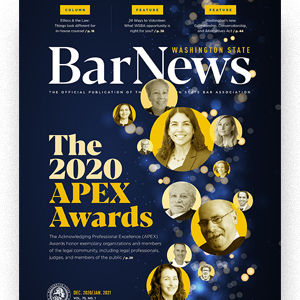 Cover of November 2020 Washington State Bar News