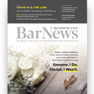 Cover of Bar News June 2020