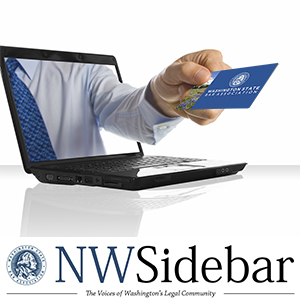 Bar card coming out of laptop screen