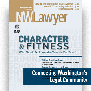 Cover of NWLawyer, July 2018 ed.