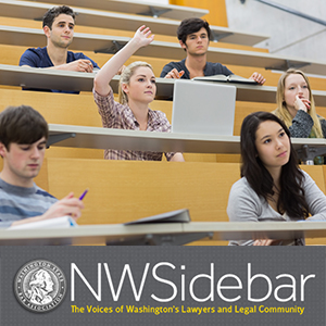 Law students in a lecture hall