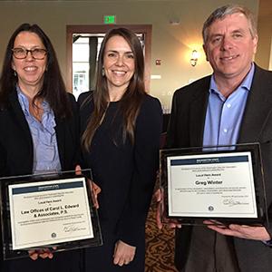 Local Hero Award recipients Carol Edward and Greg Winter