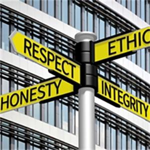 Ethics traffic sign